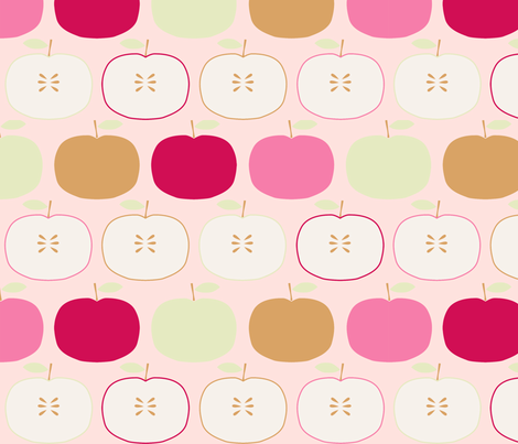 pomme_saumon_L fabric by nadja_petremand on Spoonflower - custom fabric