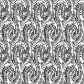 Banner fun BW swirl