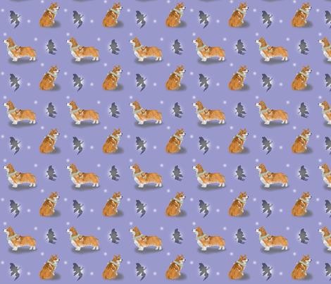 The Corgi Fairy Saddle Legend - small lavender fabric by rusticcorgi on Spoonflower - custom fabric