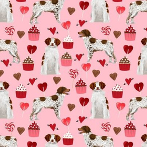 brittany spaniel valentines fabric - dog love cupcakes hearts fabric brittany spaniels - blossom