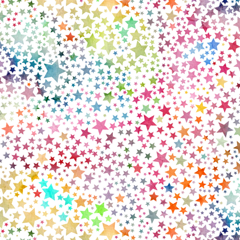 Star Rainbow fabric by emeryallardsmith on Spoonflower - custom fabric