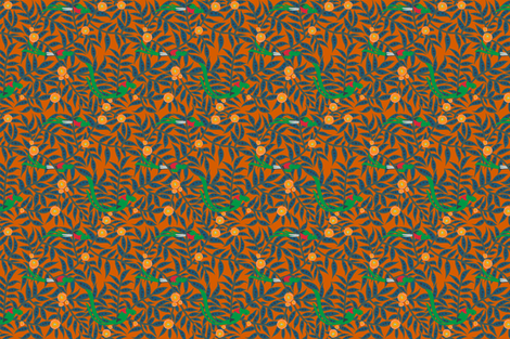 TEA_jungle_quetzals_D fabric by kheckart on Spoonflower - custom fabric