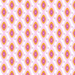 Damask LG- starburst pink white tropical