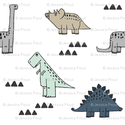 dinos (small scale) - neutrals