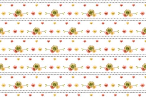 Vintage Rose Tribe MED675 - Peach fabric by drapestudio on Spoonflower - custom fabric