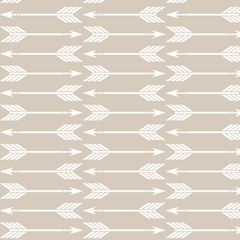 arrows on tan || the classic woodland collection fabric by littlearrowdesign on Spoonflower - custom fabric