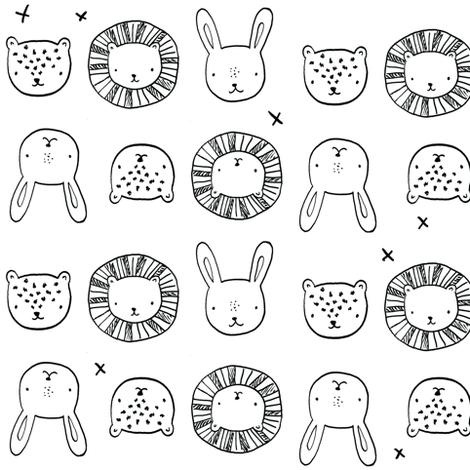 animal_friends fabric by emilyhamiltonillustration on Spoonflower - custom fabric
