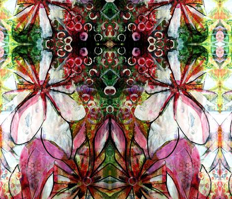 Garden party fabric pinecone design spoonflower for Garden party fabric by blackbird designs