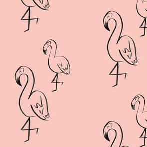 flamingo party // pink