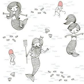 mermaids___neptune__plain___blue_sea