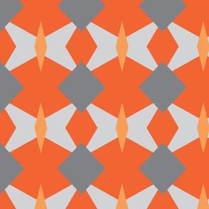 grey orange geo