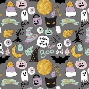"4"" Pastel Halloween Grey"