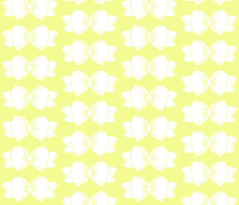Bow 1- Yellow fabric by essieofwho on Spoonflower - custom fabric