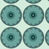 green circle flower