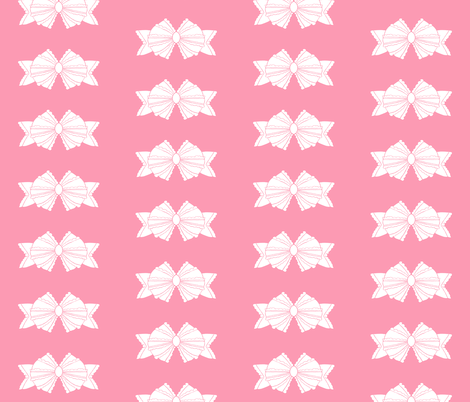 Bow 2- Pink fabric by essieofwho on Spoonflower - custom fabric