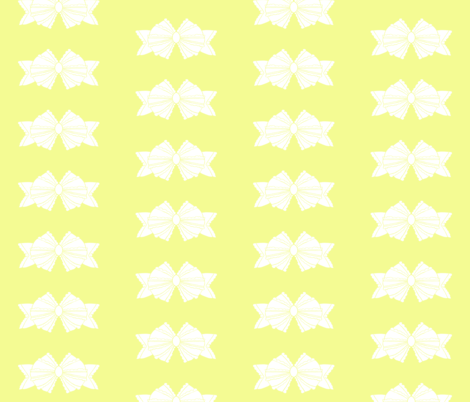 Bow 2- Yellow fabric by essieofwho on Spoonflower - custom fabric
