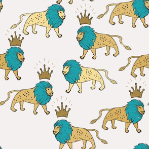 leo_lion_gold_and_turquoise_reduced