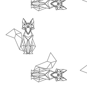 B&W Geometric Fox