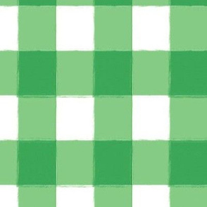 Watercolor Green Plaid