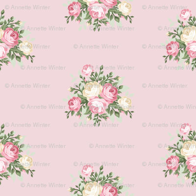 Pretty Shabby Chic Small Rose Pink