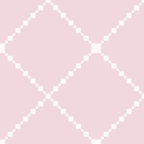Pretty Shabby Chic Pink and White Diamond Pattern
