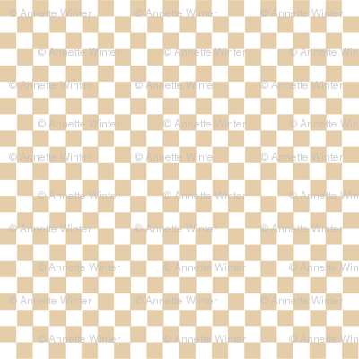 Beige and White Gingham