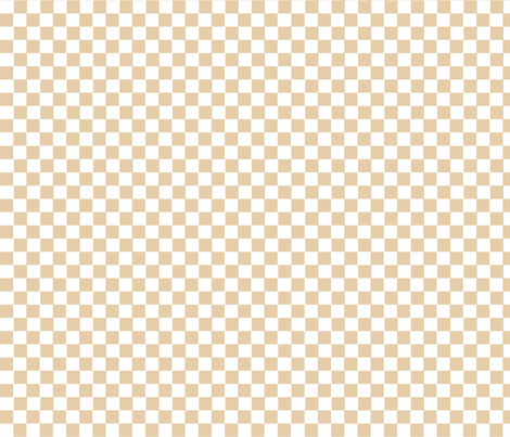 Beige and White Gingham fabric by thatsgraphic on Spoonflower - custom fabric