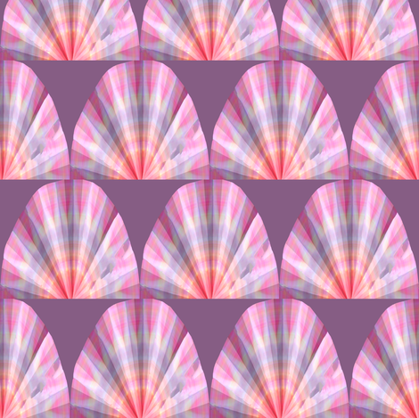 Scalloped Light fabric by anniedeb on Spoonflower - custom fabric