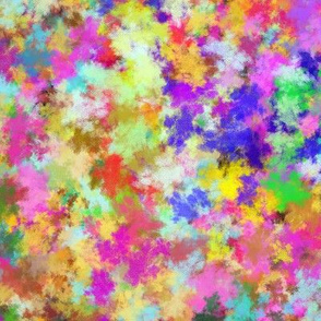 CANVAS ABSTRACT GARDEN multicolor pastel