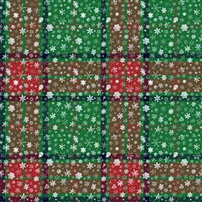 Christmas snowflake tartan (Maxwell, small snowflakes)