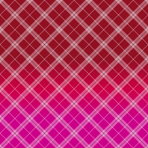Red to pink gradient plaid