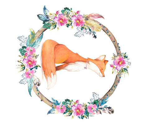 Bohemian Dreams Floral Fox - Fat Quarter fabric by shopcabin on Spoonflower - custom fabric