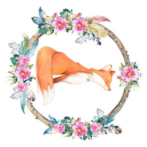 Bohemian Dreams Floral Fox - Fat Quarter