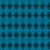Brush Pen Design 2 (Shell, Black on Blue)
