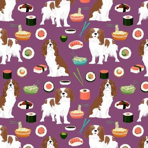 cavalier king charles spaniel fabric noodles sushi fabric cavalier king charles fabric