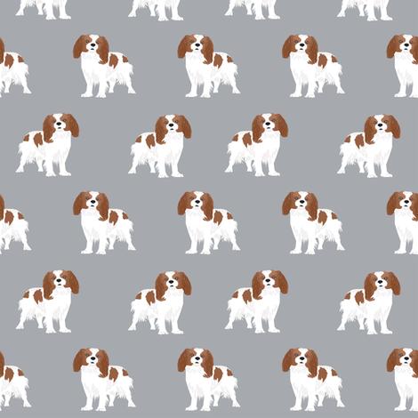 cavalier king charles spaniel fabric blenheim dog fabric spaniel fabric fabric by petfriendly on Spoonflower - custom fabric