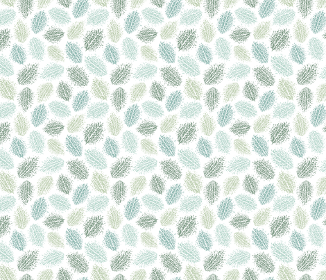 Abstract Botanical fabric by carrie_hendrix on Spoonflower - custom fabric