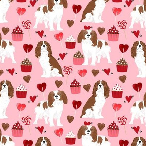 cavalier king charles spaniel fabric love valentines fabric cute dogs design