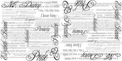 Pride & Prejudice Text (Bi-Directional White)