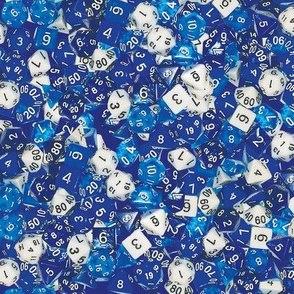 Blue Gaming Dice