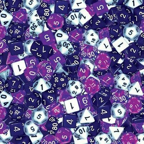 Purple Gaming Dice