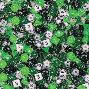 Green Gaming Dice