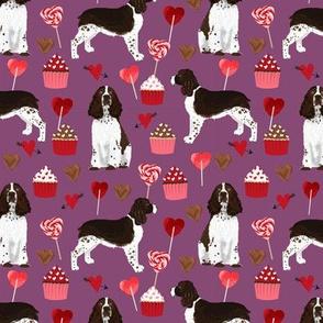 english springer spaniel dog love fabric best valentines cute cupcakes dog design