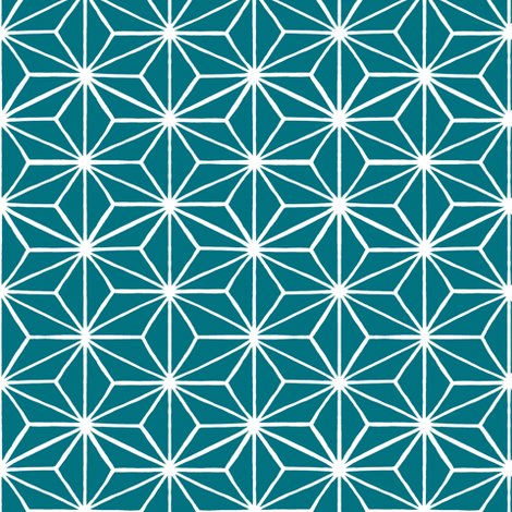 Star Tile in Teal fabric by thistleandfox on Spoonflower - custom fabric