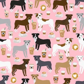 pitbull coffee fabrics cute pitbull terrier fabric design pittys design love rescue dogs fabric