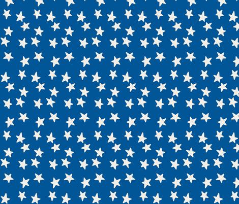 Stars - Indigo & Linen fabric by kelly_korver on Spoonflower - custom fabric