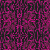 African Zebra design in hot pink and black