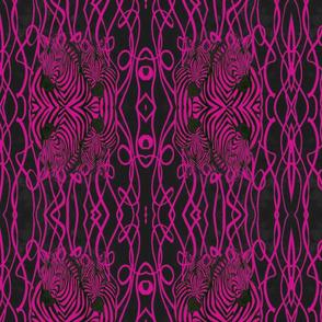 African Zebra design in hot pink and black