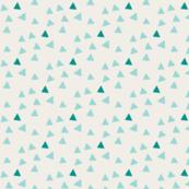 Triangles - Vintage Aqua & Linen