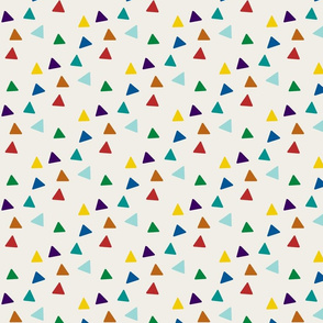 Triangles - Multicolor & Linen